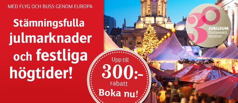 Julmarknadsresor till Tyskland