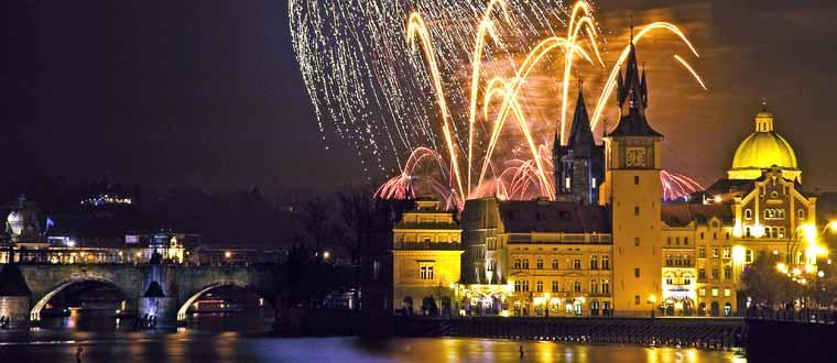 Nyår i Prag
